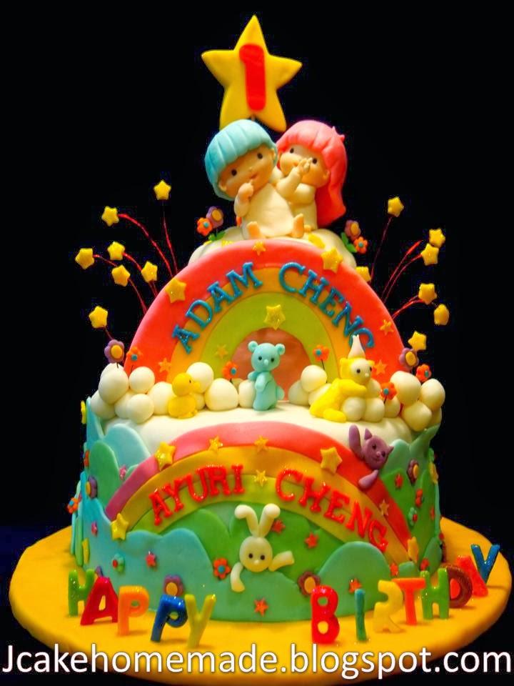 Jcakehomemade Sanrio The Little Twin Star Birthday Cake