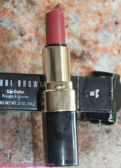 Bobbi Brown neutral Lip Color #18 review, swatches, photos