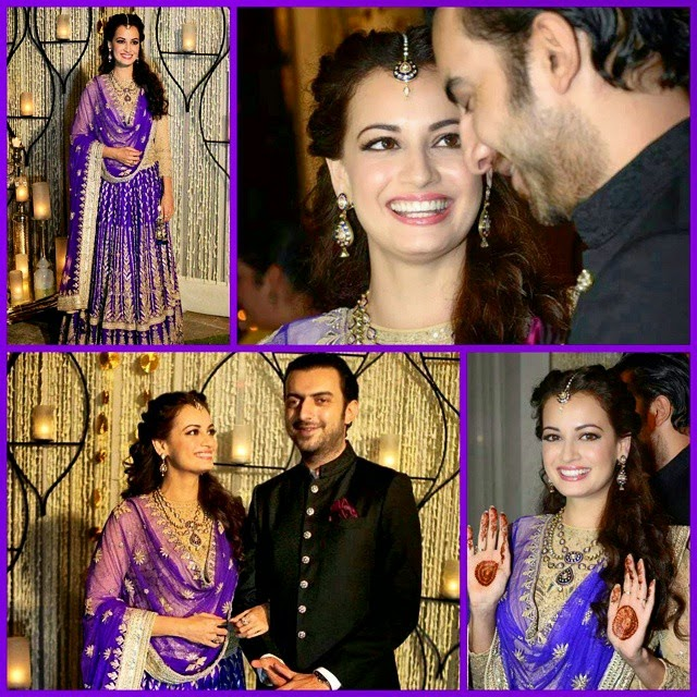 dia mirza, sung ee , bollywood tempest, bollywood, blogg r, iger s, beautiful, gorgeous, bride, bridal, weddings, sha adi, lehenga,, Dia Mirza Wedding Photos with Sahil sangha