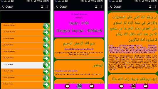Aplikasi Al Quran Latin dan Terjemahan