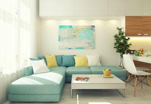 ruang tamu minimalis yang sederhana