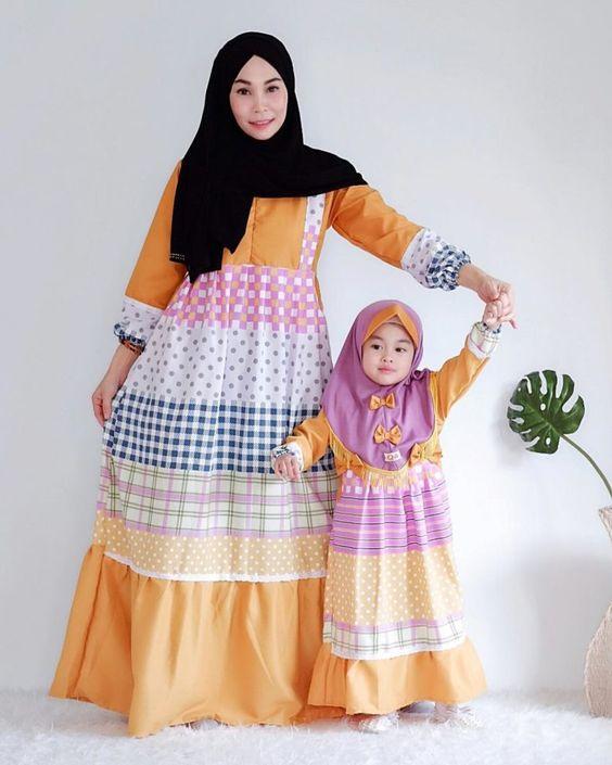 15 Model Baju Gamis Couple Ibu dan Anak Untuk Lebaran 2019 ...
