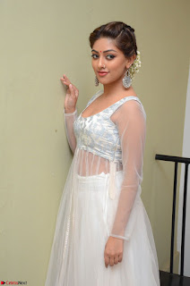 Anu Emmanuel in a Transparent White Choli Cream Ghagra Stunning Pics 080.JPG