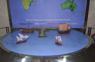 display pelayaran samudra museum kapal