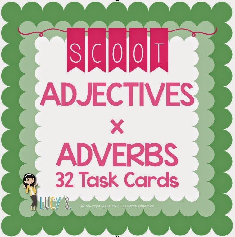 Adejctives x Adverbs Scoot - 32 task cards
