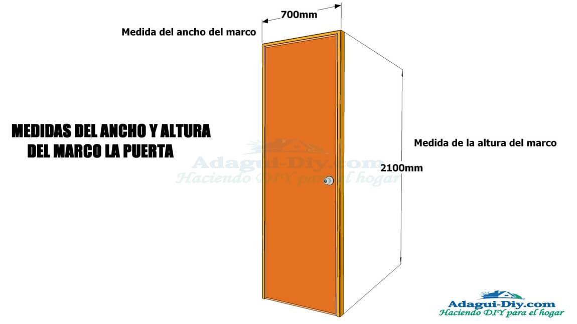 Medidas de puertas de interior for Como se hace una puerta de tambor