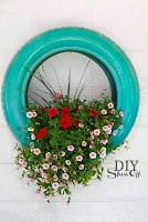 Ideas para el jardín con neumáticos reciclados