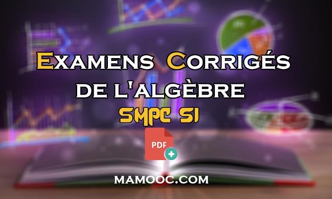 Examens et contrôles corrigés de Algèbre 1 SMPC s1 PDF