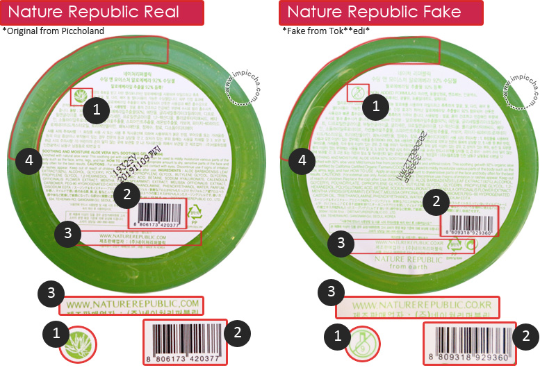 Perbedaan Nature Aloe Vera Gel Real and Fake
