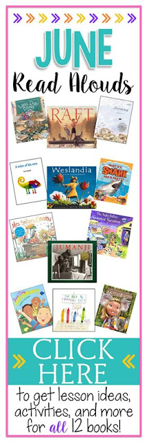 Books Bloggers Love - 12 great read alouds for the month of June. Grab lesson ideas, freebies, and more for each book!