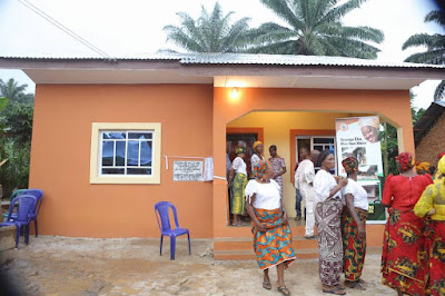 Tears of joy as Akpabio's Wife donates House to Widow in Obot Akara