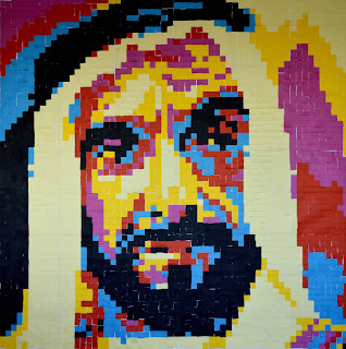 Bebuzzd creates unique wall art portrait of 'Sheikh Zayed' as part of 45th UAE National Day celebration