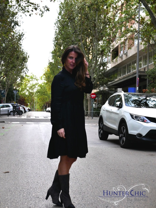 Zara woman-hunterchic by marta-marta halcon de Villavicencio-fashion blog-vestido negro diferente