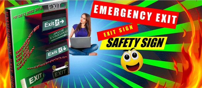 Emergency Exit Sign Lamp Garansi 12 Bulan