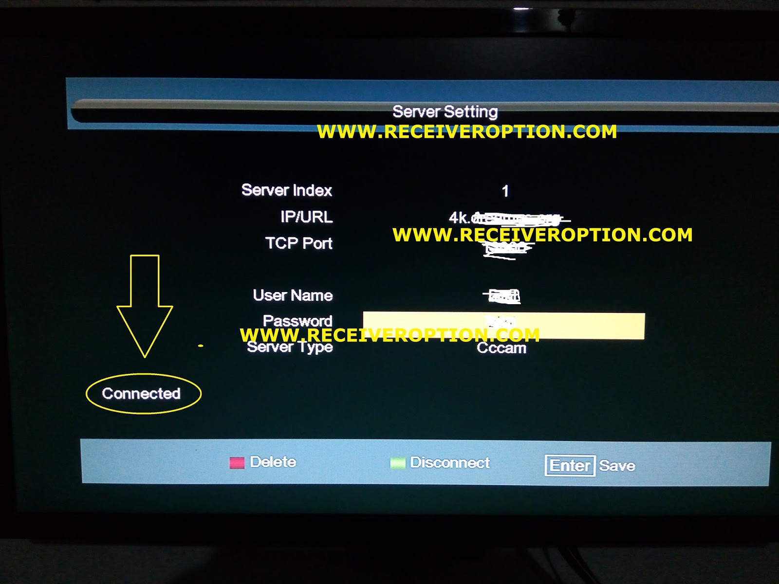 NEWSAT 9990 PLUS HD RECEIVER CCCAM OPTION - HOW TO ENTER BISS KEY