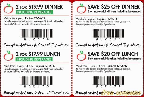 Serve up savings with these top Souplantation coupons for up to 15% Off in December ! Save more at every store with Coupon Sherpa!