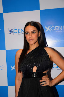 Neha Dhupia Looks In Black At The Launch Event Of Centric Smartphones In Mumbai