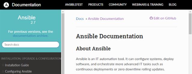 Documentation Ansible