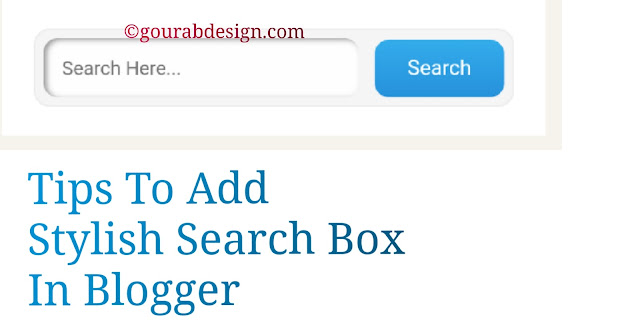 add stylish search box widget in blogger