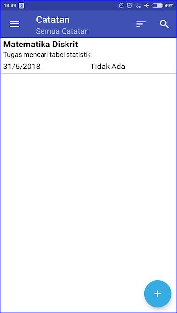 Aplikasi Android Membantu Mengingat Jadwal Kuliah