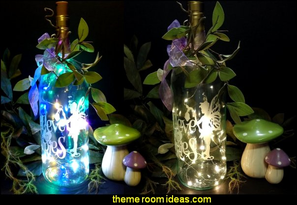 Magic Fairy Lighted Wine Bottles, Believe in Fairies Night Light