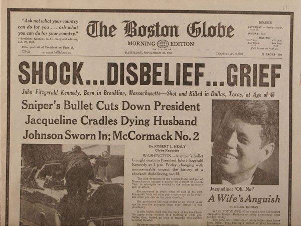 John F Kennedy Assassination , Vintage Newspaper Cuttings ...