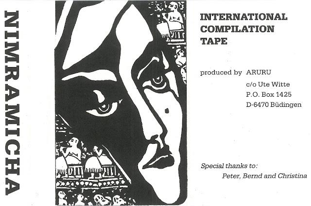b75b1af35d27 Excelentísima compilación internacional editada por el desconocido sello  ARURU en 1988 y presentada en una carpeta A5 con títulos de pista y  créditos en una ...