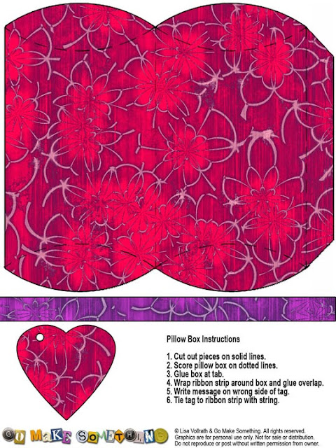 Flowers: Free Printable Pillow Boxes.