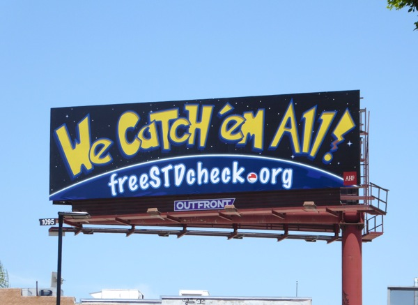Pokemon spoof We catch em all STD billboard