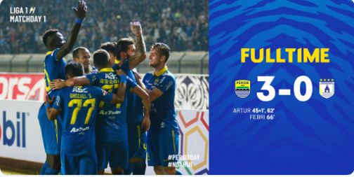 Persib Bandung vs Persipura 3-0 Video Gol Highlights