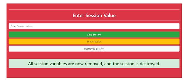 removed session | destroyed session | vrsavani blog | PHP