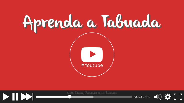 """5 vídeos mais assistidos e com mais """"gostei"""" no youtube sobre a Tabuada"""