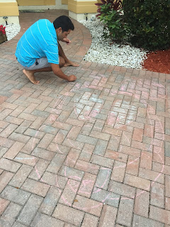 Mickey Mouse Sidewalk Chalk Art