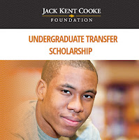 still for Jack Kent Cooke Foundation Undergraduate Transfer Scholarship poster.