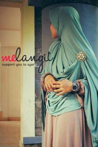 foto melangit hijab syar'i