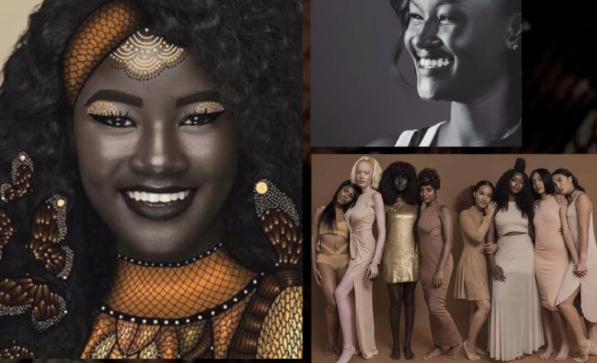 darkest Senegalese model Khoudia diop black skin colour