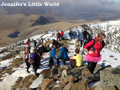 Climbing Snowdon with Team Honk