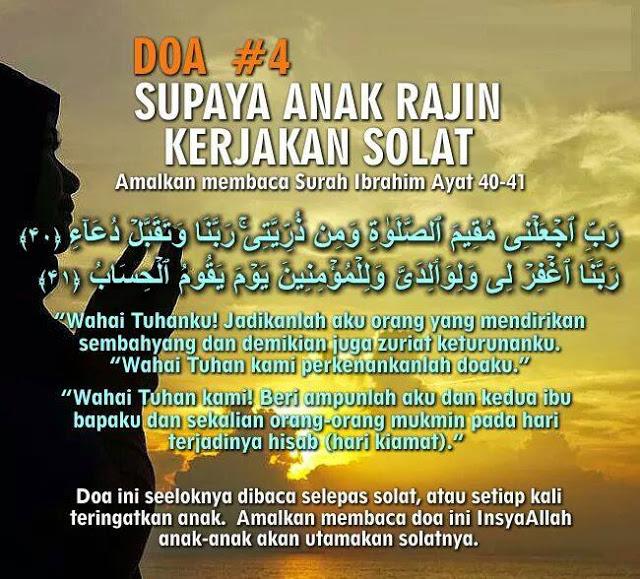 Doa Supaya Anak Rajin Solat