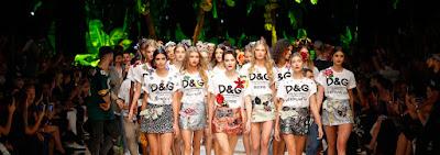Foto della Sfilata Dolce & Gabbana Stile Tropicale