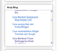 Cara membuat Scroll Pada Arsip Blog