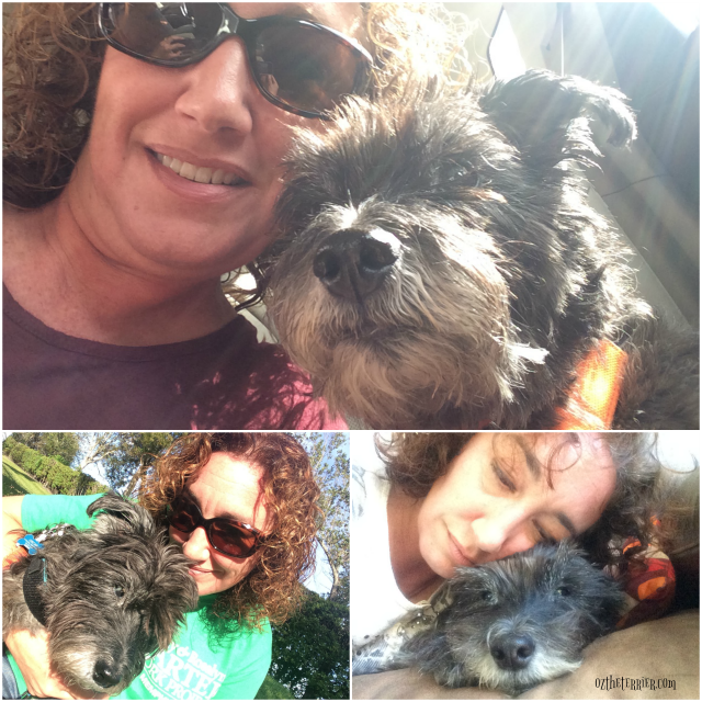 oz dog mom birthday selfies