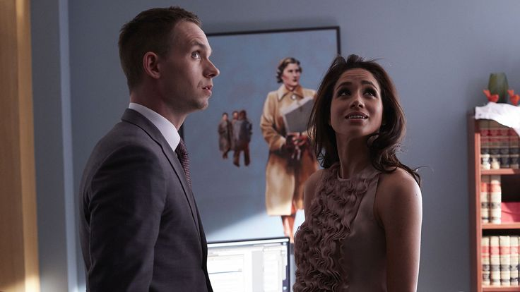 Fotografía de Rachel Zane y Mike Ross en Suits