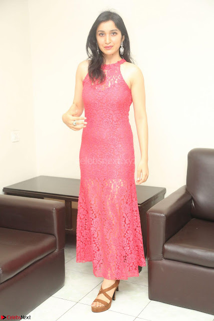 Sakshi Kakkar in Red Legsplit Sleeveless Gown at Dare movie Press meet ~  Exclusive 002.JPG