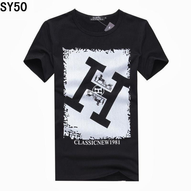 524d23425daa 2013 Achat Vente Pas Cher Homme Col Rond T-Shirt Hermes Noir  Impression,€24.99