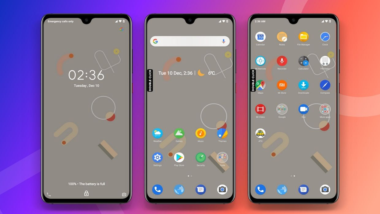 Google Experience 4.0 MIUI 11 Theme with Light and Dark Mode