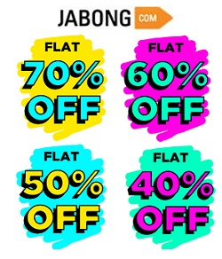 Jabong Clothing, Footwear,  Accessories : Flat 70% | 60% | 50% | 40% Off