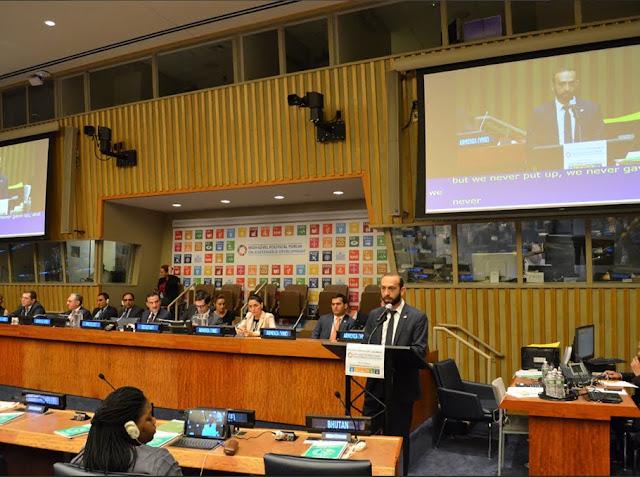 Mirzoyan visita la ONU y se reúne con Garo Armen del COAF