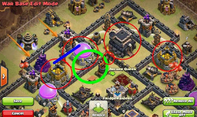 Town Hall 9 Base Clan War COC