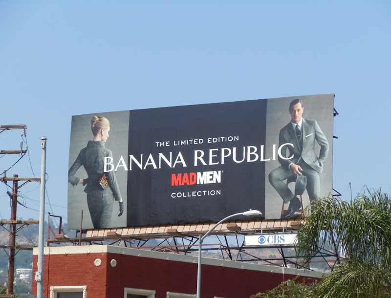 Banana Republic Mad Men billboard