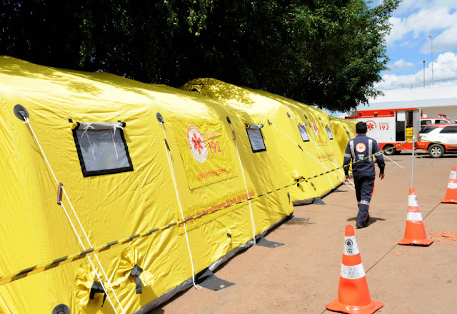 Secretaria de Saúde monta acampamento em em São Sebastião